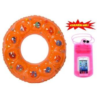 Phao bơi trẻ em summer time+Tặng kèm túi đựng điện thoại trống thấm nước(Vàng)