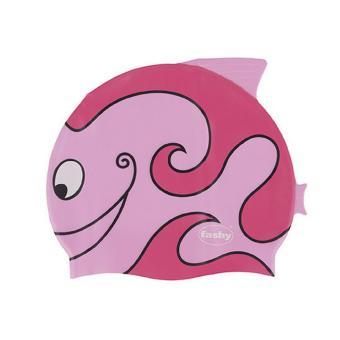 Nón bơi trẻ em Fashy hình cá (Hồng)