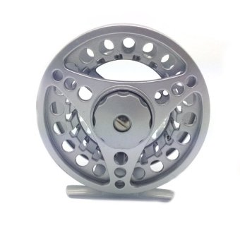 9/10 Aluminum Fly Fishing Reel Adjustable Drag 75-85-95mm Diameter Silver A4- - intl