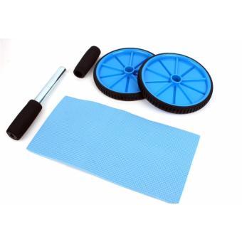 Bánh lăn tập bụng AB 2 bánh Roller Wheel + Tặng thảm quỳ gối