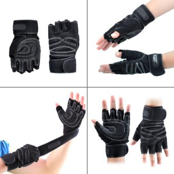 Weight Lifting Training Gloves(black L) - Intl