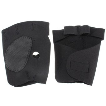 1 Pair of Neoprene Weight Lifting Workout GYM Palm Exercise Fingerless Gloves - intl