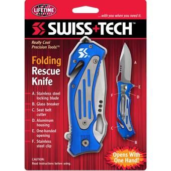 Dao xếp cứu hộ SwissTech Folding Rescue Knife (41100)
