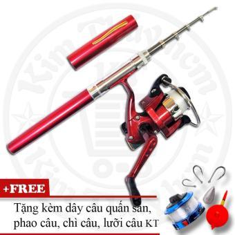 Bộ cần câu cá du lịch KT Mini M1 Red 100cm