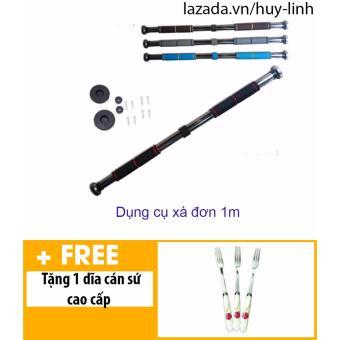 Dụng cụ xà đơn gắn cửa tùy chỉnh 1m + Free 1 dụng cụ dĩa cán sứ cao cấp