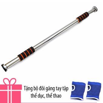 Xà Đơn Treo Tường Verygood 80-130cm (Trắng) + Tặng 1 đôi găng tay bảo vệ tập thể dục
