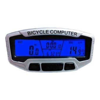 Đồng hồ xe đạp đa chức năng SunDing 558A (Bạc)