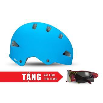 Nón bảo hộ cho người đi xe đạp FORNIX A02NC1 (Xanh dương) + Tặng Mắt kính thời trang