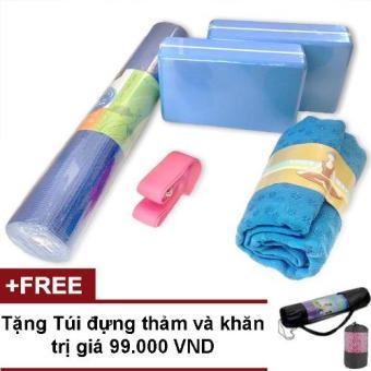 Bộ sản phẩm Yoga cho người mới bắt đầu gồm thảm, khăn, 2 gạch, dây tập