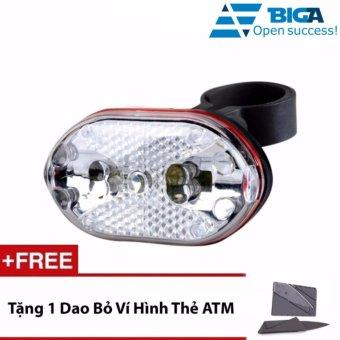 Đèn Chiếu Hậu 9 LED Xe Đạp XD03 + Tặng 1 Dao Bỏ Ví Hình Thẻ ATM
