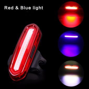 Đèn led pin sạc gắn xe đạp NQY096 (sáng đỏ-dương)