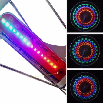 Đèn 32 LED gắn nan hoa xe đạp A07 (đỏ)
