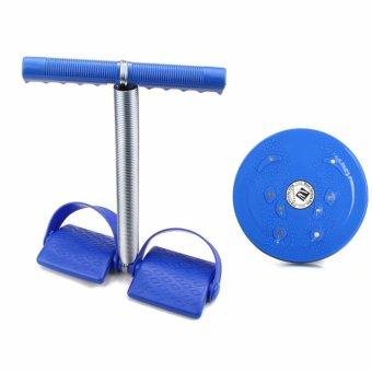 Bộ đôi dụng cụ tập cơ bụng và đĩa xoay eo(Xanh)