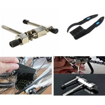 Bộ dụng cụ vệ sinh và điều chỉnh xích xe đạp (Đen phối trắng)