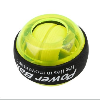 LALANG Wrist Arm Exercise Gyroscope Power Ball Strengthener Force Ball With Lights (Green) - intl