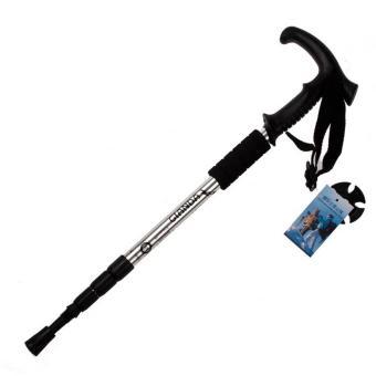 Hiking Walking Trekking Poles Ultralight Adjustable Canes Silver - Intl