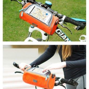 Túi loại to đeo chéo hay treeo trên xe đạp BT99.82-Xanh