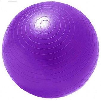 Bóng tập thể dục Yoga chất liệu cao su tự nhiên 65cm trơn (tím)