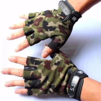 Găng tay hở ngón Nam màu rằn rì 511 Quân đội GT2