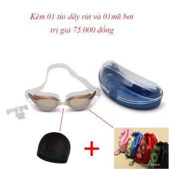 Kính bơi Shenyu tráng bạc kèm mũ bơi và túi đeo vai dây rút tiện lợi