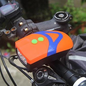 Đèn Pin siêu sáng trên xe đạp kiêm còi 3 chế độ BT99.101 (Cam).