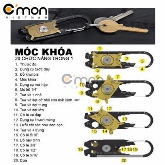 Dụng cụ đa năng bỏ túi C'MON TOOLS 20 chức năng trong 1 (Đen)