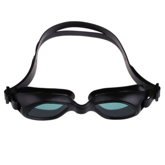 Silicon Conjoined Swimming Goggles Anti-fog PC Lens Diving Black (Intl:)