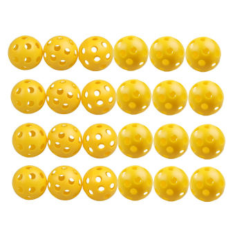 24Pcs Plastic Whiffle Airflow Hollow Golf Practice Training Sports Balls (Intl)
