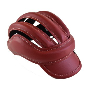 Mũ Nón Bảo Hiểm Xe Đạp 3 Sọc (Đỏ đô)