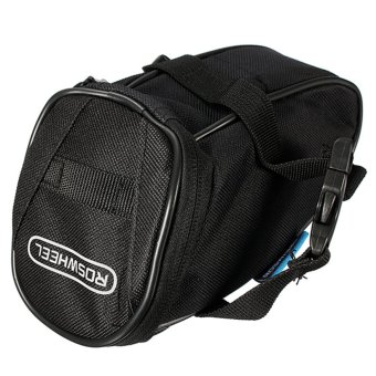 ROSWHEEL Bicycle MTB Bike Strap-On Rear Tail Saddle Seat Bag Pannier Storage Bag Black - intl