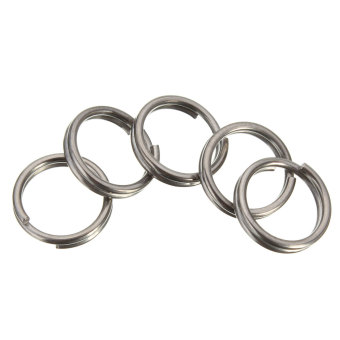 10MM EDC Gear Titanium Ti Key Chain Key Ring Split Ring 4-12'' - Intl