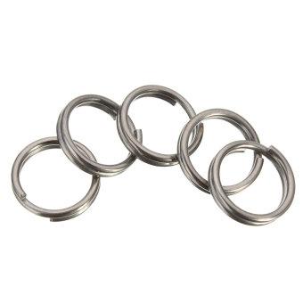 10MM EDC Gear Titanium Ti Key Chain Key Ring Split Ring 4-12'' - Intl