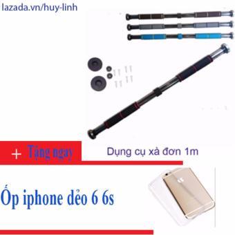 Dụng cụ xà đơn gắn cửa tùy chỉnh 1m tặng ốp iphone 6 6s dẻo trong suốt