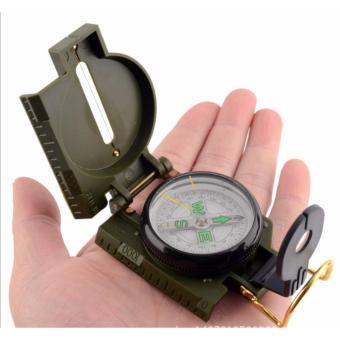 La bàn định vị kỹ thuật quân sự, hoạt động dã ngoại + Tặng 01 móc treo chìa khóa da thật