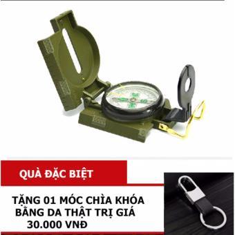 Mua La bàn định vị kỹ thuật quân sự, hoạt động dã ngoại + Tặng 01 móc treo chìa khóa da thật giá tốt nhất