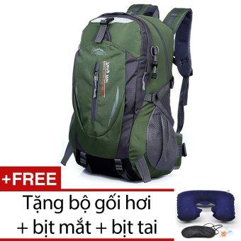 Ba lô du lịch siêu nhẹ chống nước cào cứa không sờn Seonhi KWG (Xanh) + Tặng bộ 1 gối hơi + 1 bịt mắt + 1 cặp bịt tai