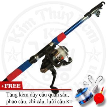 Bộ cần câu cá tiện dụng KT 2.1M (Xanh)