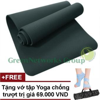 Thảm tập Yoga TPE cao cấp Zera GnG 6mm 2 lớp có túi đựng + Tặng vớ yoga