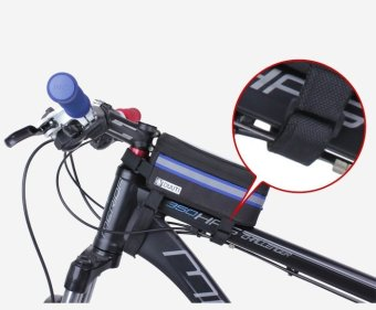 Túi bao trên xe đạp chống sóc có cửa sổ cảm ứngchống nước cho điện thoại H77-ĐEN XANH