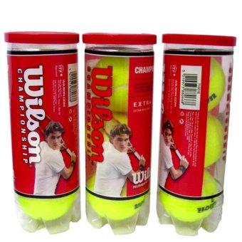 Bộ 3 hộp bóng Tennis Wilson Champion (3 quả/hộp)