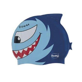 Nón bơi trẻ em hình cá Fashy (Xanh dương)