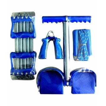 sét 4 món dụng cụ tập thể dục đa năng và lò xo tập tay
