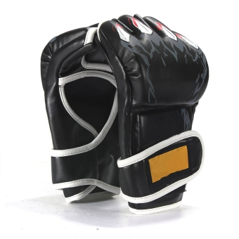 UFC Sparring Boxing Fight Punch Mitts Leather Gloves(Black) - Intl
