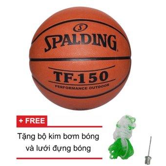 Quả bóng rổ Spalding TF150 Performance Outdoor Size 6 (Ngoài trời) + Tặng bộ kim bơm bóng và lưới đựng bóng