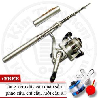 Bộ cần câu cá du lịch KT Mini M1 Silver 100cm