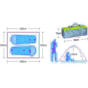 Lều 2 người 2 lớp khung nhôm (Xanh Coban)