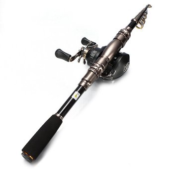 1.8M 6 Section Telescopic Carbon Spinning Fishing Rod Not Included Reel