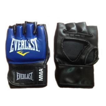 găng tay hở ngón tập luyện MMA Everlast (xanh)