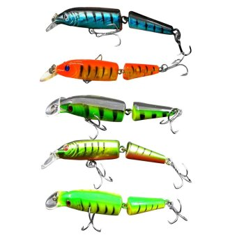 5pcs Fishing Lures Spinner Baits Crankbait Assorted Fish Tackle Hooks SM- - intl