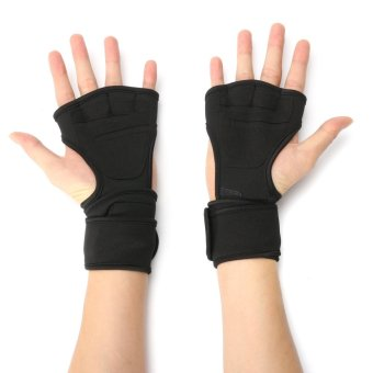 M Fitness Gloves Weight Lifting Gym Workout Sport Exercise Training Wrist Wrap - intl
